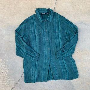 Vintage Designer Paul Harris Embroidered Shirt
